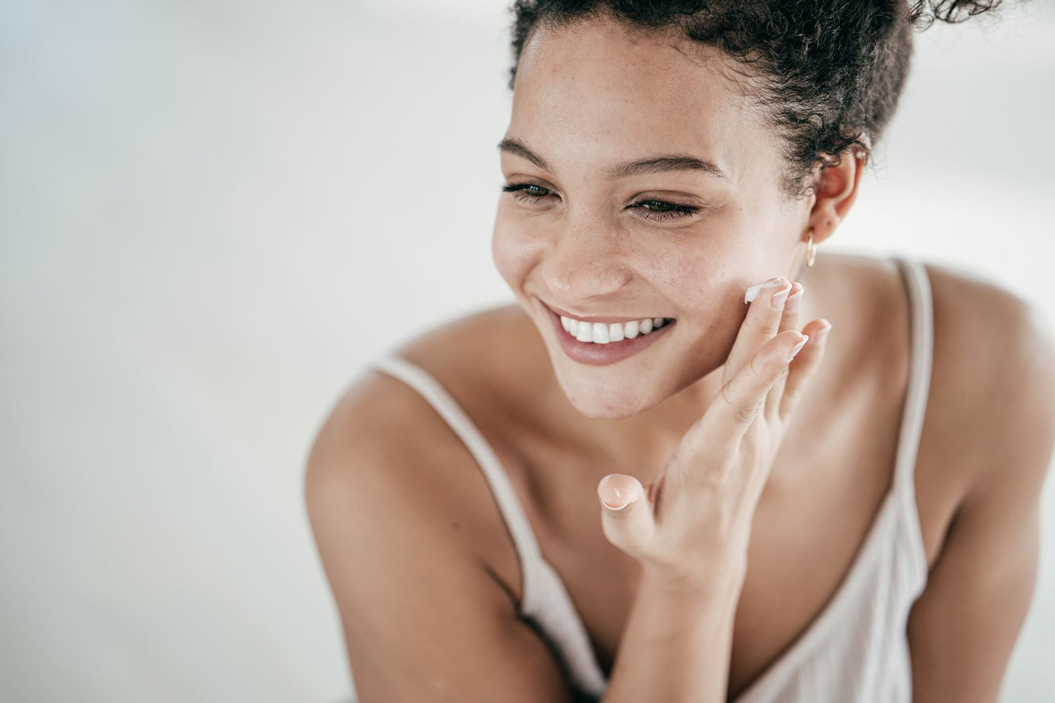 Woman Enjoys Results of Natural Skincare from Dr. Duplechain in Lafayette